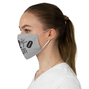 Go On GIT! 2020 • Kick • Black and Gray • Gray Fabric Face Mask - Maui Woke