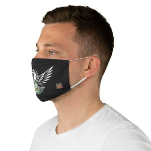 male side Wings To Fly-Black Fabric Face Mask