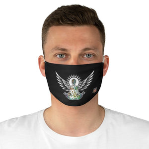 male front Wings To Fly-Black Fabric Face Mask