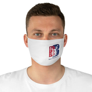 Political 5 Build Back Better Biden Harris White Fabric Face Mask