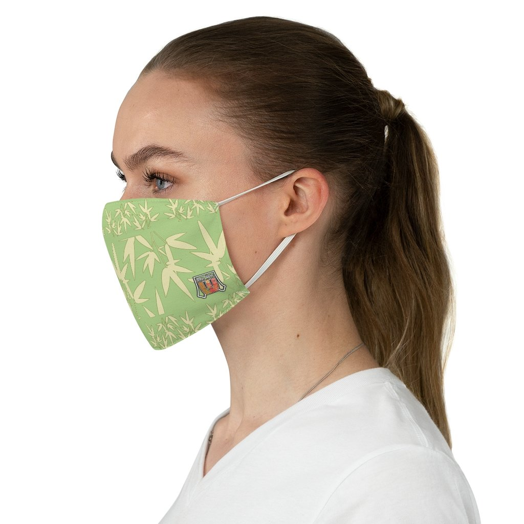 Casual Bamboo Hike • Sage Green Fabric Face Mask - Maui Woke