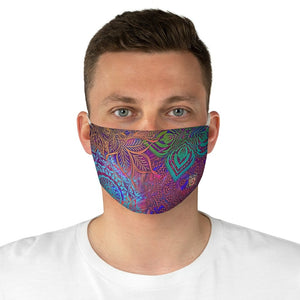 male frontSacred Geometry Inspired-Colorful Fabric Face Mask