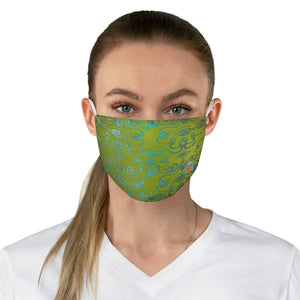 front view 3rd Eye -Green Fabric Face Mask