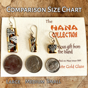The Hana Collection White Gold Earrings-Large - Maui Woke