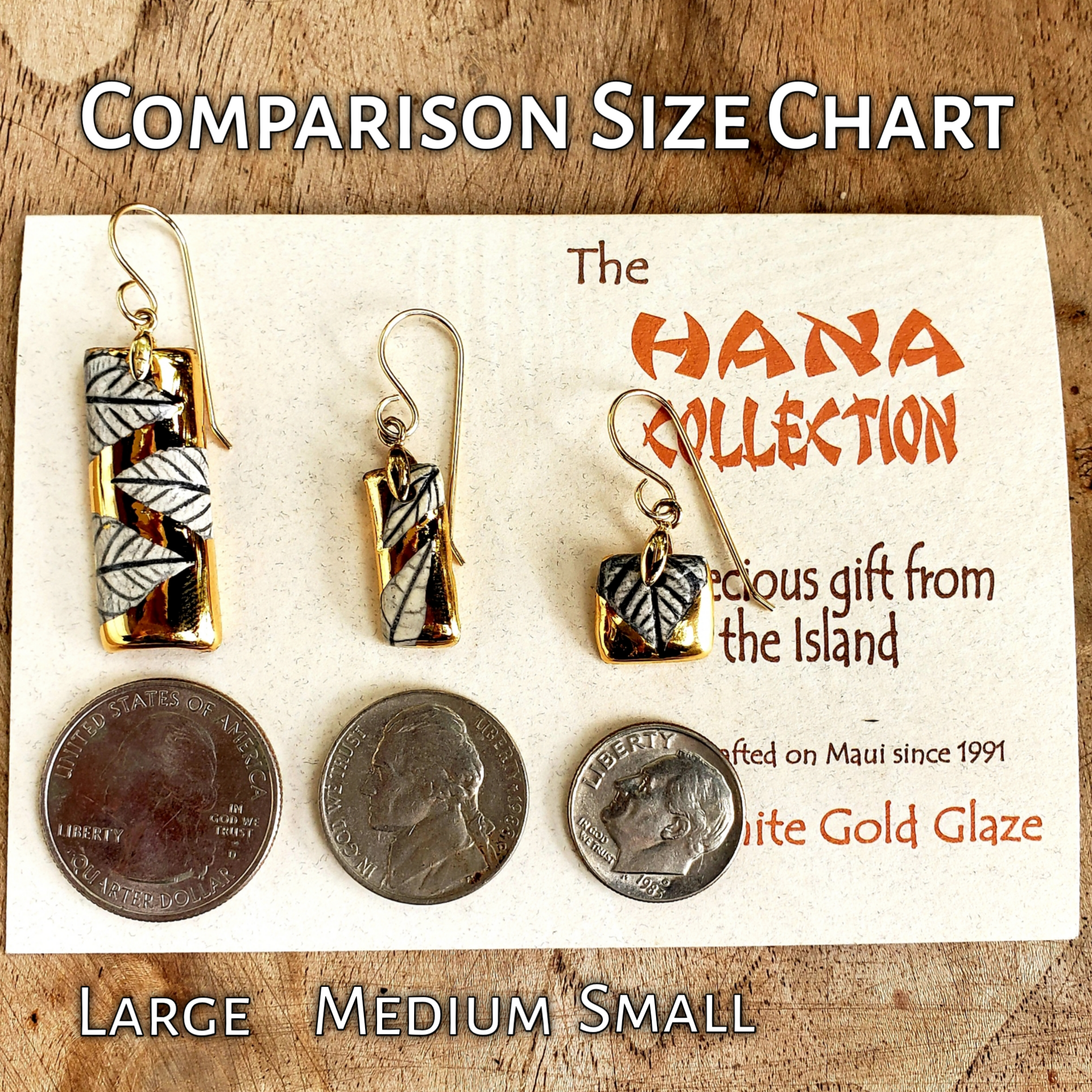 The Hana Collection Gold Earrings-Large - Maui Woke