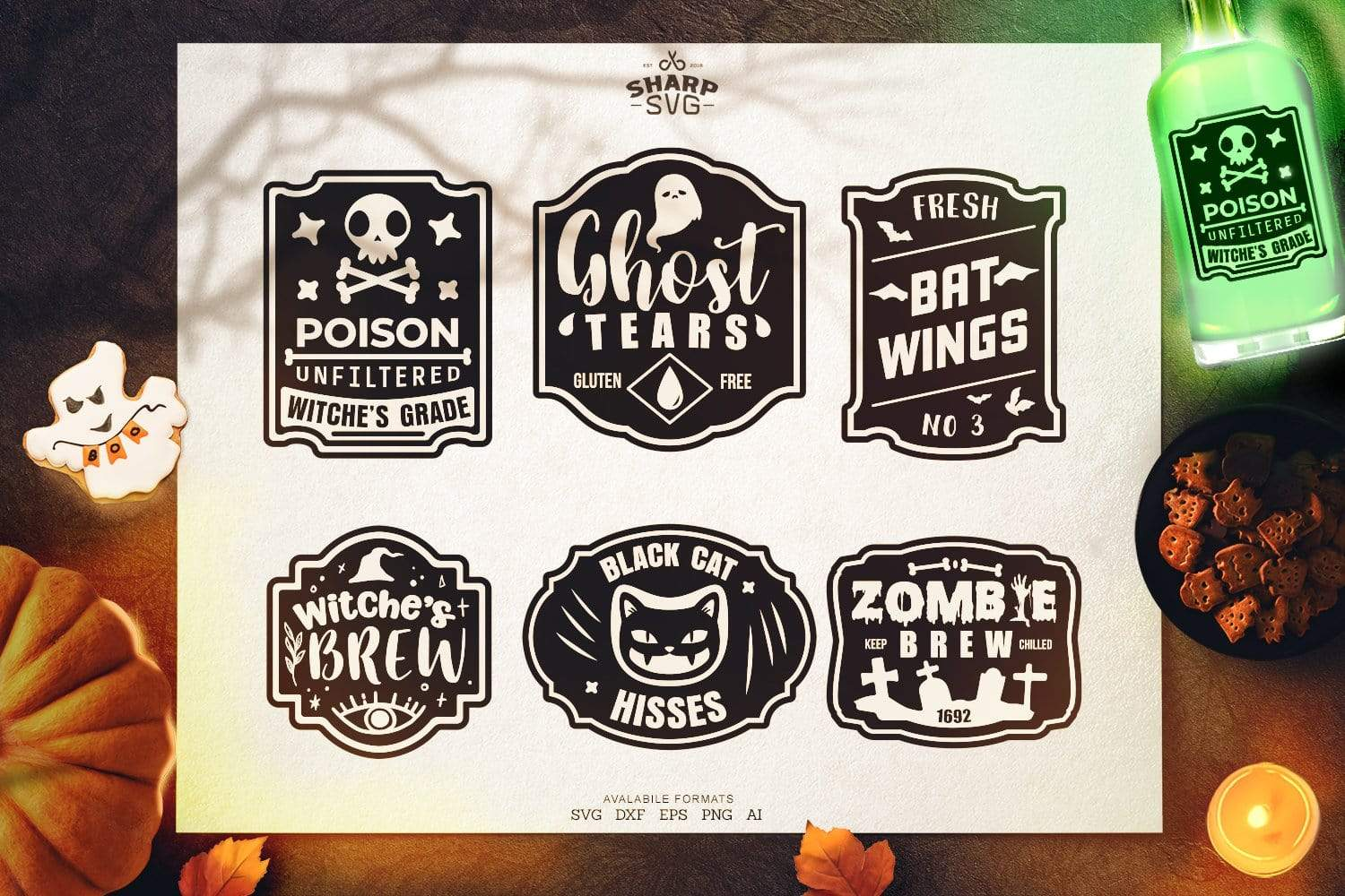 ULTIMATE HALLOWEEN SVG BUNDLE free DIGITAL DOWNLOAD SharpSVG