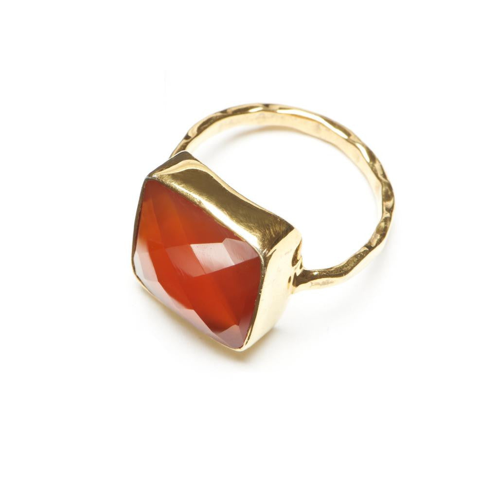 Olivia Statement Solitaire - Carnelian