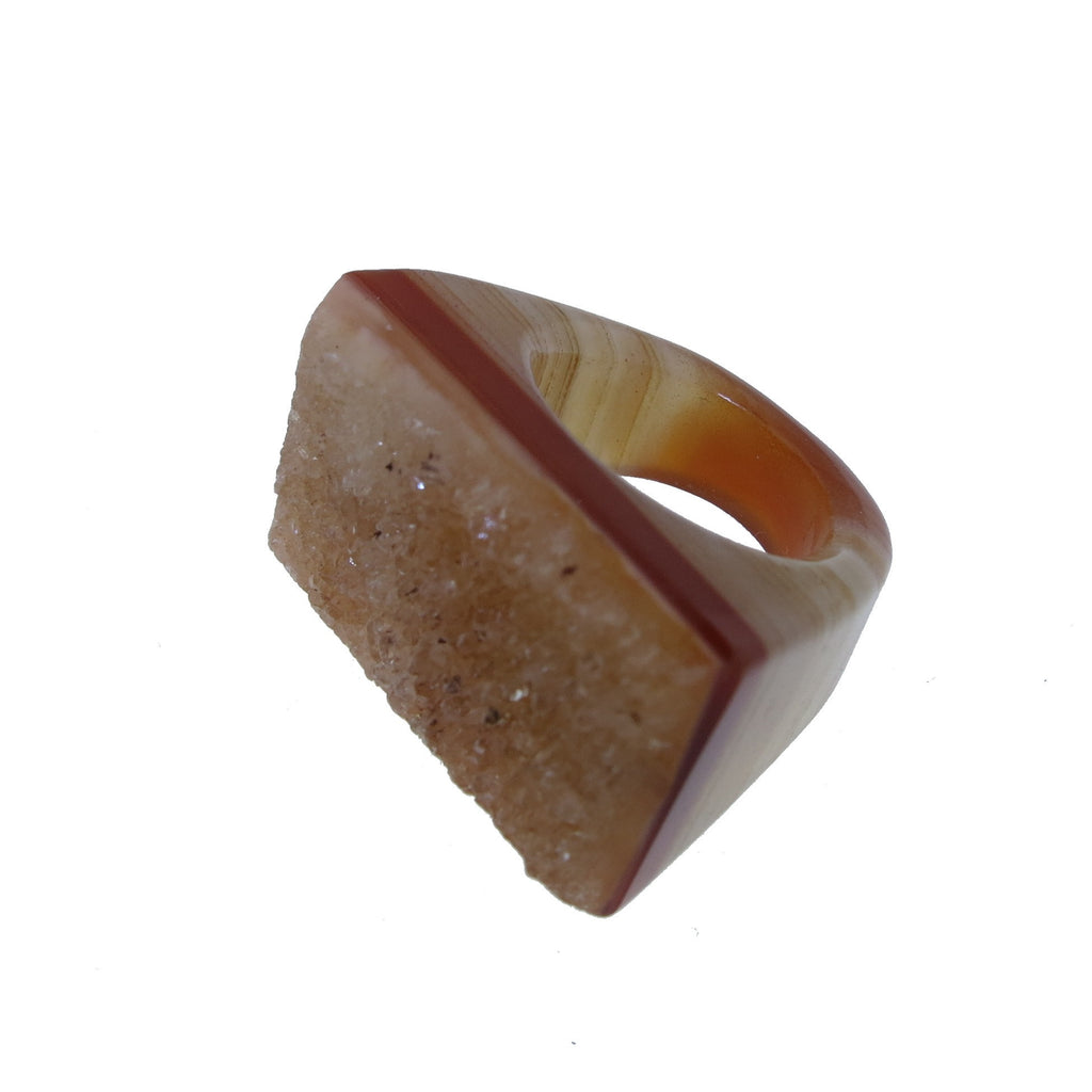 Clementine Agate Ring - Size 7