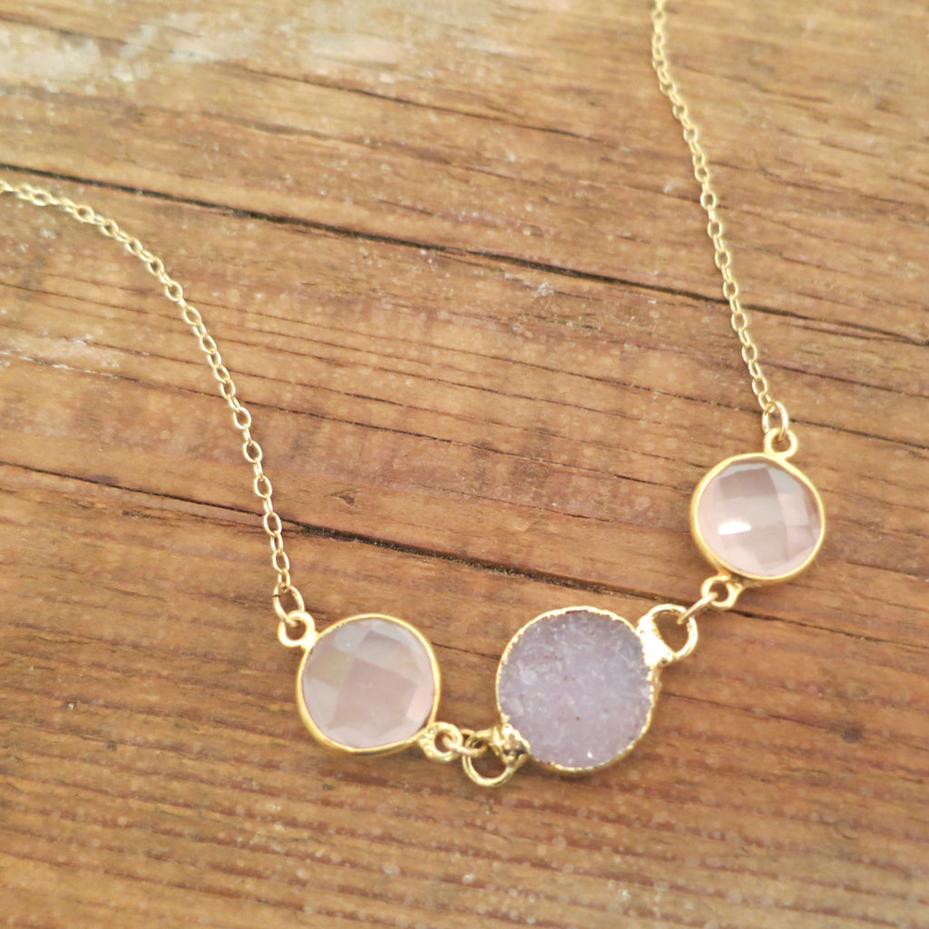 Eva Three Stone Necklace