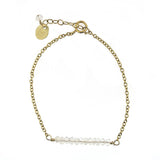 Stella Bar Bracelet - Moonstone / Gold
