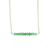 Colette Bar Necklace - Chrysoprase / Silver