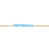 Tallulah Bar Bracelet - Blue Topaz / Gold