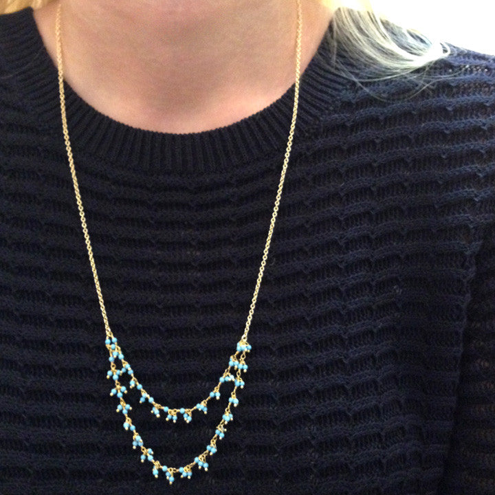 Harper Double Strand Necklace