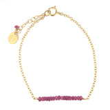 Scarlett Bar Bracelet - Ruby / Gold
