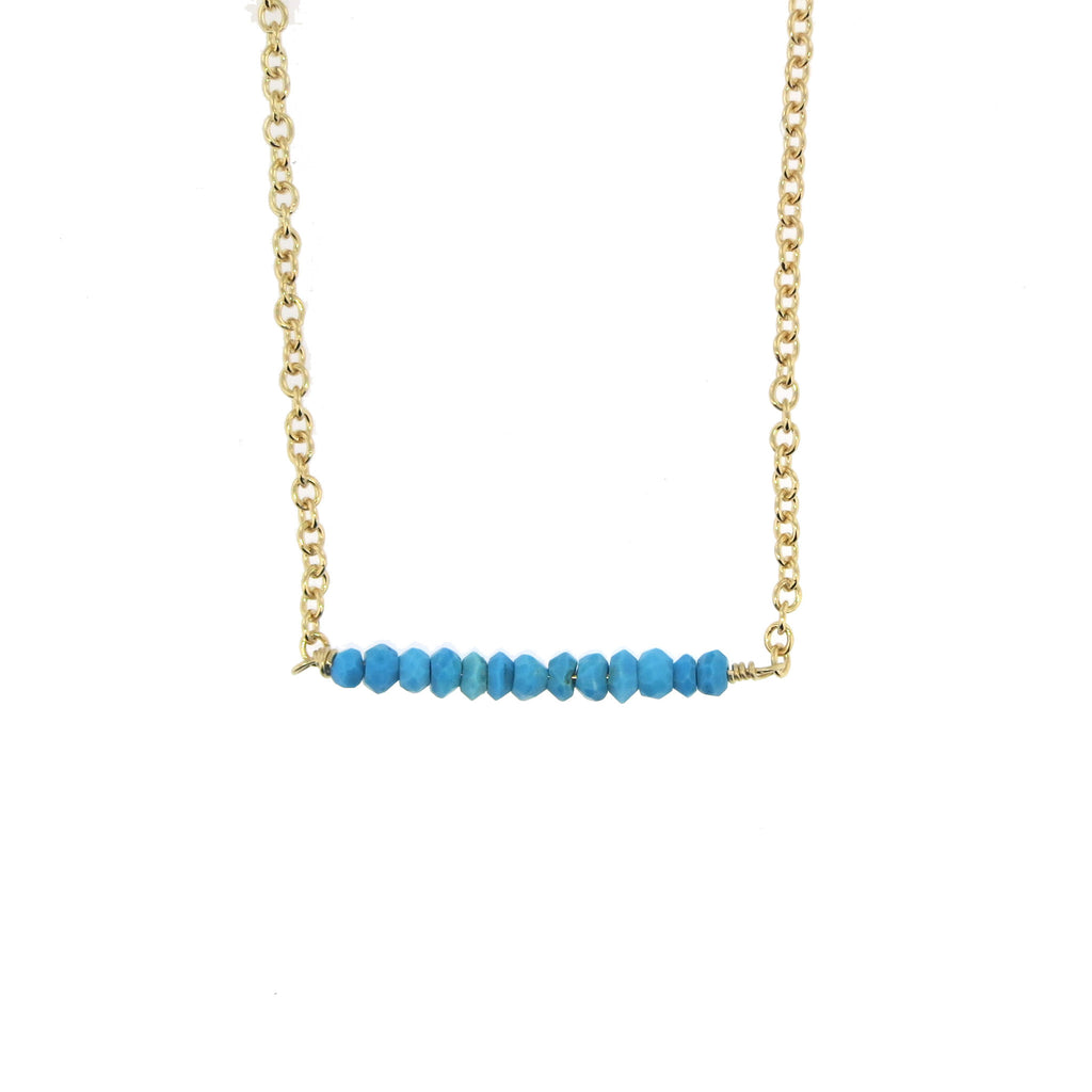 Harper Bar Necklace - Turquoise / Gold