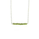 Verdia Bar Necklace - Peridot / Silver