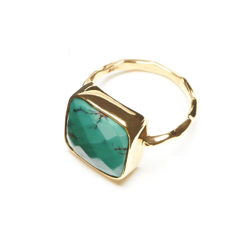 Harper Statement Solitaire - Turquoise