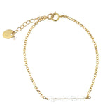 Grace Bar Bracelet - Quartz / Gold