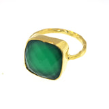 Penelope Statement Solitaire - Green Agate