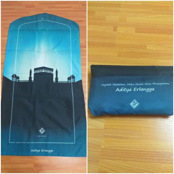 King Salman Premium Pocket Sajadah Custom Nama Ukuran Large (King Salman)