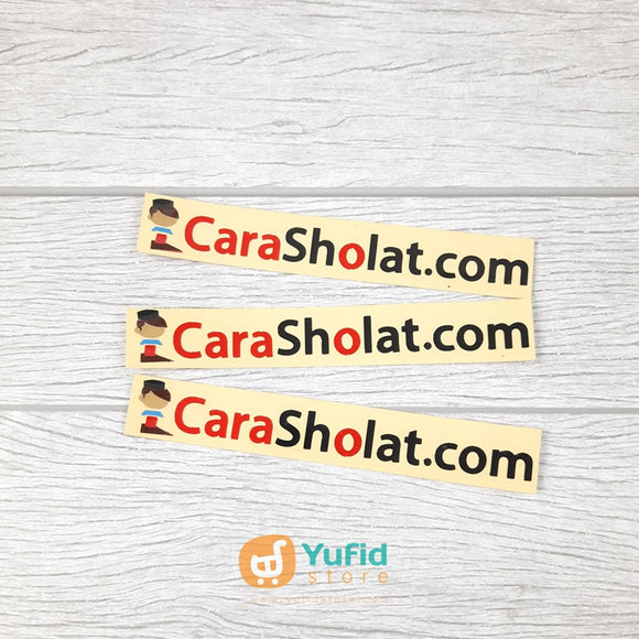 STICKER CARA SHOLAT