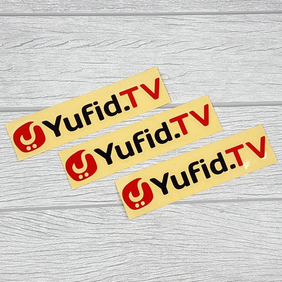 Sticker Yufid.TV Merah Hitam