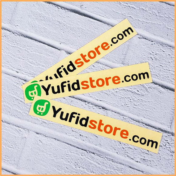 Sticker Yufid Store Hijau Hitam Orange