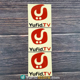 Sticker Yufid TV Merah Hitam Persegi