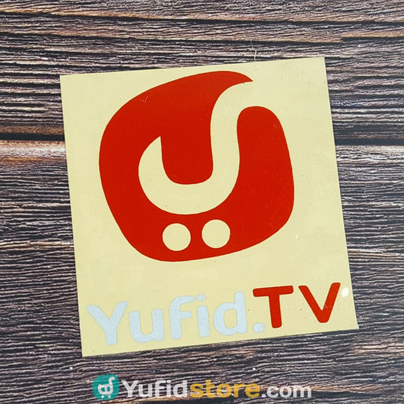 Sticker Yufid TV Merah Putih Persegi