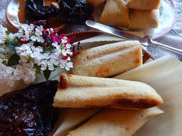 Homemade tamales. How to make Mexican Red Tamales (Tamales Rojos)