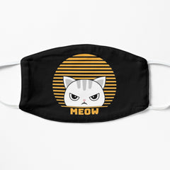Cute retro cat face mask
