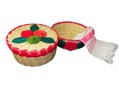 palm baskets with lid woven napkin