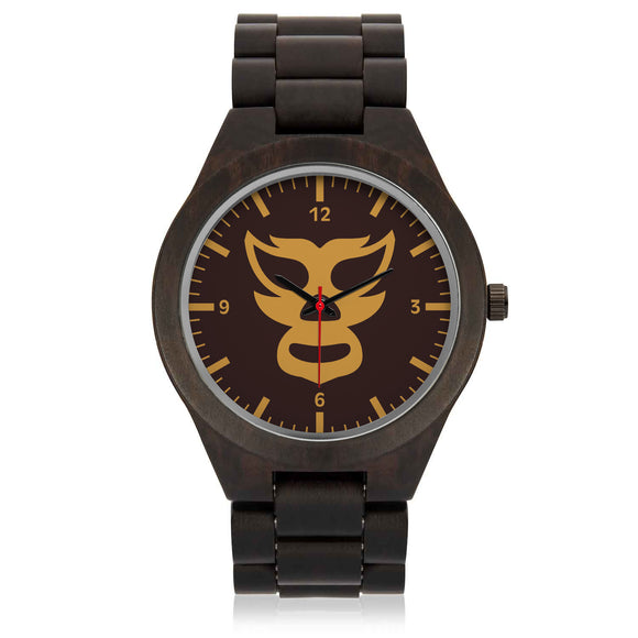 Luchador (brown) Wood Watch