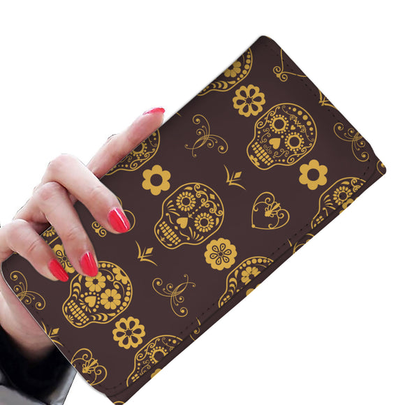 Calaveras dark brown Women's Wallet