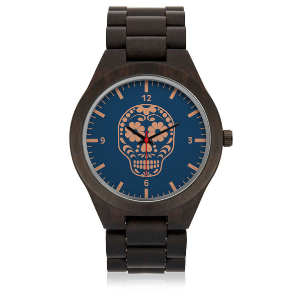Calaverita (indigo) Wood Watch