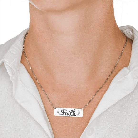 FREE Faith Horizontal Bar Necklace