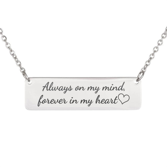 FREE Forever In My Heart Horizontal Bar Necklace