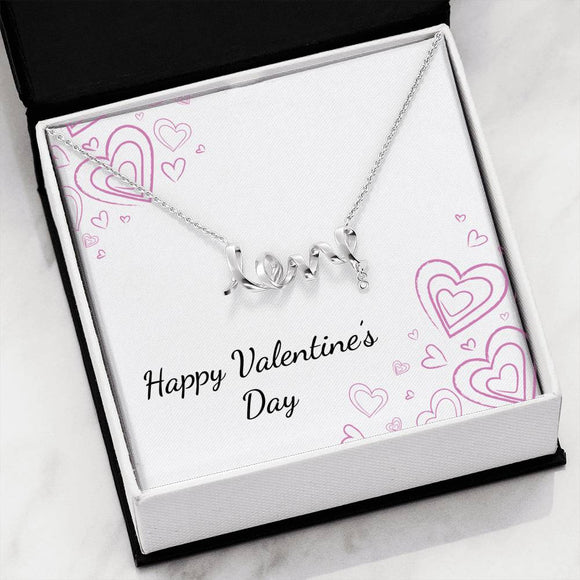 Scripted Love Necklace with