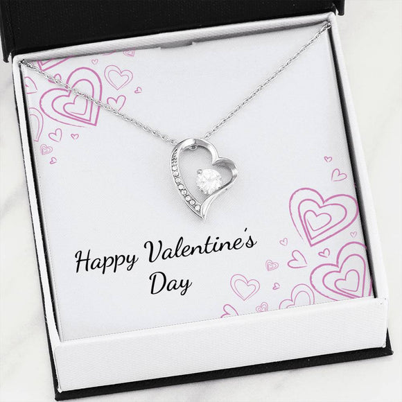 Forever Love Heart Pendant Necklace with
