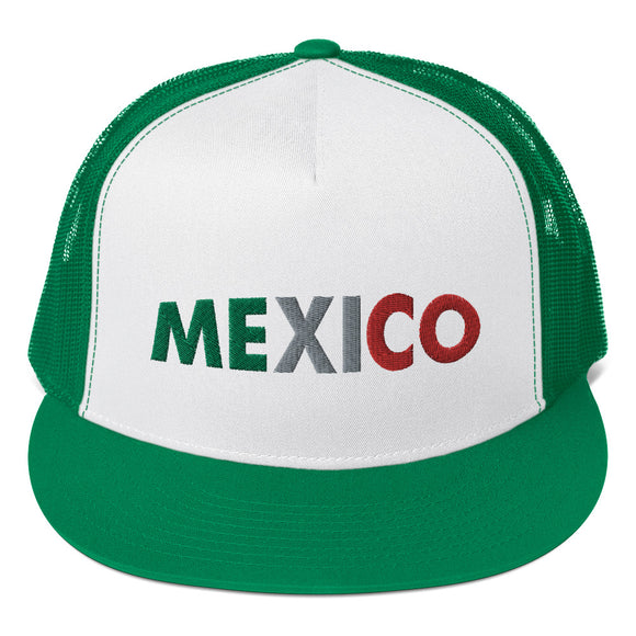 Mexico Embroidered Trucker Cap