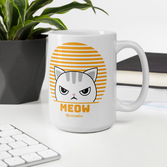 Cute Funny Vintage Retro Style Kawaii Cat Mug