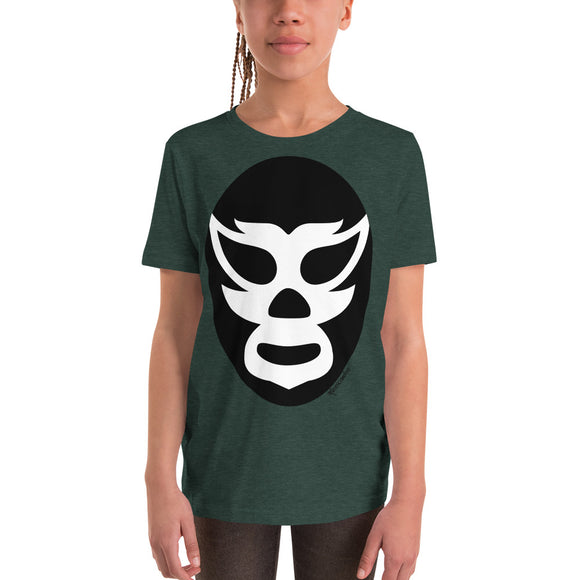 Luchador Black Mask Youth Short Sleeve T-Shirt