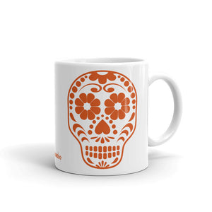 Calavera (Sugar Skull) Orange-White Mug