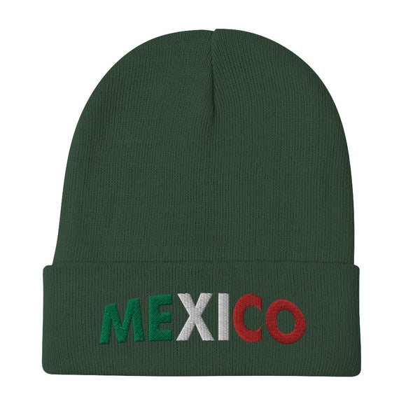 Mexico Embroidered Beanie