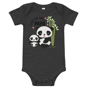 Cute As My Papa! Panda Baby Bodysuit (Onesie) 100% Cotton