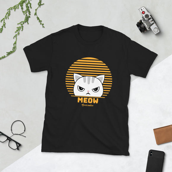 Cute Funny Vintage Retro Style Kawaii Cat Short-Sleeve Unisex T-Shirt