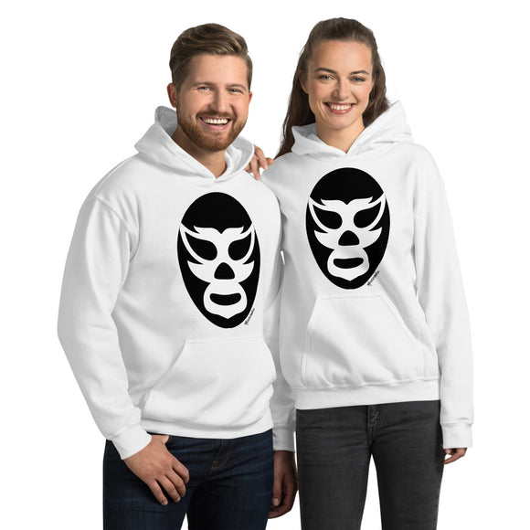 Luchador Black Mask Hooded Sweatshirt