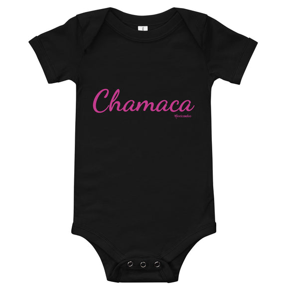 Chamaca pink font Baby Girl Bodysuit 100% Cotton