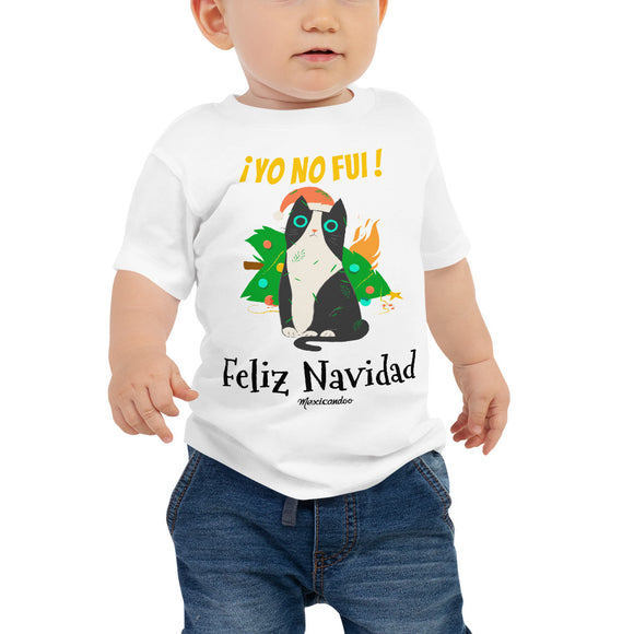 Funny Naughty Cat Christmas Navidad Baby Jersey Short Sleeve Tee