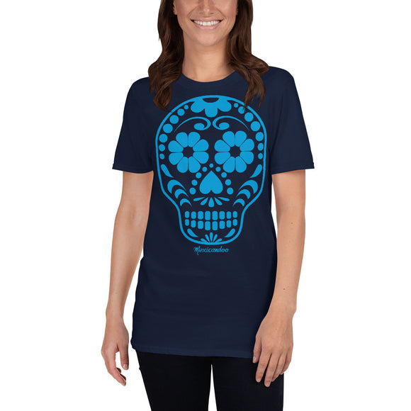 Calavera (Sugar Skull) blue Short-Sleeve Unisex T-Shirt